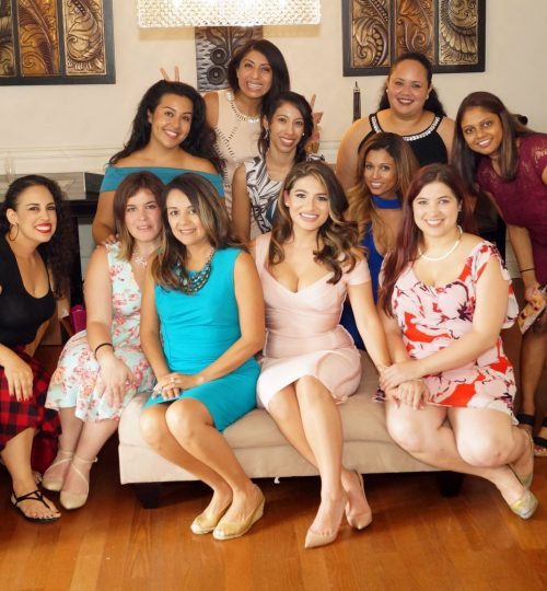 Guests and Bride at Bridal Shower